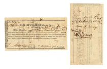 BANK OF CHARLESTON, SO. CARO. WITNESSED BY HENRY E. YOUNG, JUDGE ADVOCATE ON GENERAL LEE'S STAFF