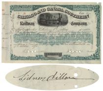 Chicago & Canada Southern Railway Co. Signed Twice By Sidney Dillon