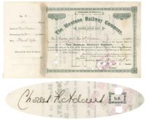 The Montana Railway Co. Issued To And Signed By Charles Francis Adams