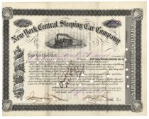NY Central Sleeping Car Co. Signed By W. Wagner As President