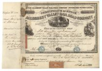 Allegheny Valley Rr Co. Signed By Steel Magnate B. F. Jones