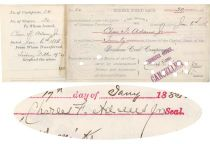 Bozeman Coal Co. Stock Issued To And Signed Twice By Charles F. Adams, Jr., As President Of The Company And On Verso