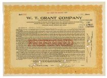 W T. Grant Company Signed By Grant As President