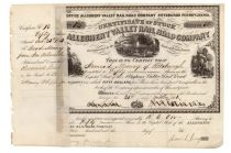 Allegheny Valley Rail Road Company Signed By Henry Phipps, Jr. As Witness