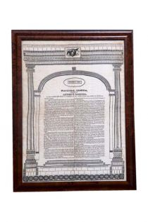 A Choice Printed Silk Broadside Of Andrew Jackson's First Inaugural Address