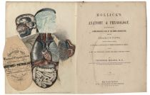 """Hollick's Anatomy And Physiology With A Full Color Cross Section Of """"The Human Organization"""" And Numerous Other Anatomical Plates"""