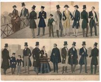 Highly Colorful And Graphic Advertising Broadside American Fashions 1855-56