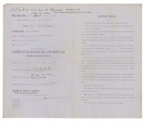 Confederate Postal Department Contractor's Agreement And Schedule