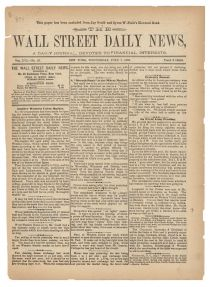 "THE WALL STREET DAILY NEWS: ""This paper has been excluded from Jay Gould and Cyrus W. Field's Elevated Road"""