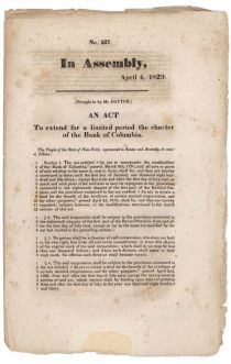 Early Group Of Extension Of Bank Charters