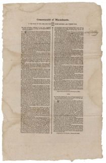 1822 Act Concerning The Massachusetts Militia