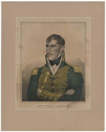 Kellogg Hand Colored Print Of William Henry Harrison