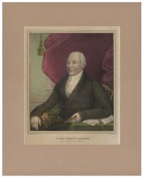 Kellog Hand Colored Print Of John Quincy Adams
