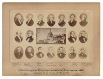 A Rare Centennial Exposition Hall Of Presidents