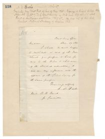 During The Civil War, Bache Writes To Express His Support For A Benefit To Be Held For Wives And Children Of Volunteer Soldiers