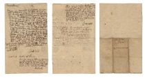 A Fine Early Massachusetts Land Transaction Signed by these three Promiment Massachusetts People – John Weld, William Dudley and Samuel Gerrish