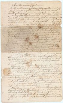 "John Treadwell As Witness To A Will ""I recommend my Soul to God…my body I commend to dust"""