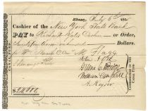 John Dix Signs A Canal Fund Check