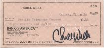 Chill Wills Signs A Check
