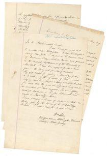 Application submitted to the Examining Board of Naval Surgeons as Assistant Surgeon. William Lillie