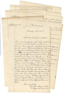 Augustus Schulze Applies To Be A Naval Surgeon For The Union During The Civil War
