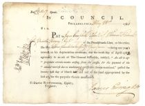 John Nicholson Signed Certificate Paying Interest On Depreciation Certificate
