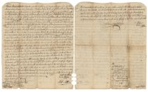 Marriage and Dower Indenture Signed by Revolutionary War General Otho H. Williams