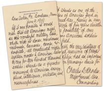 Potent Patriotic Letter From Charles D. Rhodes With Sage Military Advice