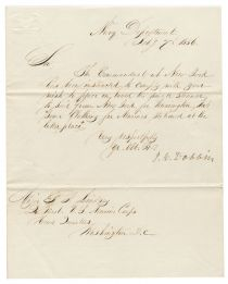 Secretary of the Navy James C. Dobbins Signed Letter