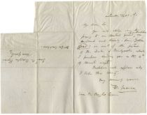 """Henry Inman Writes To Prominent New York Attorney Samuel B. Ruggles Concerning His """"Picture of the Duke of Bridgewater"""""""
