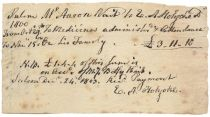 Fine Letter Edward Augustus Holyoke Signed Debt Payment Confirmation