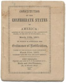Fine Miniature  Constitution of the Confederate States of America 1861