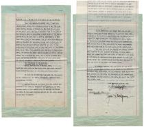 Pan Am Airways Airplane Contract Signed by Juan Trippe and John K. Montgomery