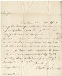 Continental Congress Thomas Fitzsimons Letter