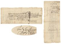 Revolutionary War General Joseph Spencer Endorsed Note For Interest Due