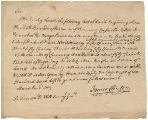 REVOLUTIONARY WAR GENERAL JAMES CLINTON WRITES CONCERNING NEW YORK LAND