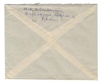 An Envelope Addressed To The Mark Twain Society And Signed By George Santayana In The Return Address