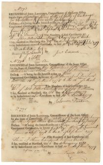 Jonathan Edwards The Younger Receives Interest on His Continental Certificates