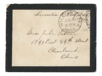 Mourning Envelope Franked by Lucretia Garfield