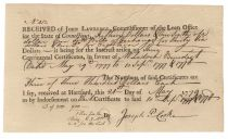 Joseph Platt Cooke Signs For Interest Received on Continental Certificates