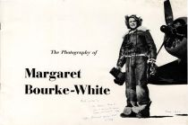MARGARET BOURKE-WHITE SIGNED PROGRAM FROM  AN EXHIBITION HER WORK HELD AT THE GEORGE EASTMAN HOUSE