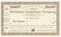 California Investment Company