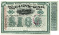 Atchison, Topeka And Santa Fe $100 General Mortgage Gold Bond Scrip