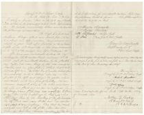 A Fine Content Letter Detailing The Loss Of Equipment During A Charge By A Regiment Of Colored Troops Signed By Four Black Soldiers