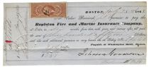 Promissory Note Signed by N.H. Governor Ichabod Goodwin