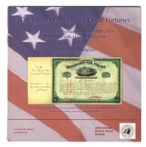"A New Publication ""The Value of America's Great Fortunes"""