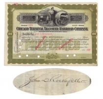 Issued To And Signed By John D. Rockefeller