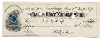James Russell Lowell Signed Bank Check