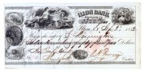 Samuel Remington Partly-printed Bank Check.