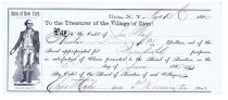 Philo Remington Partly-printed Bank Check